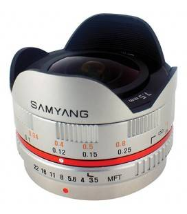 SAMYANG 7.5MM F3.5 UMC FISH EYE MICRO 4/3 ARGENT