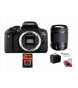 CANON 750D KIT CON TAMRON 18-200VC + SD 8GB HD VIDEO + BOLSO TAMRON