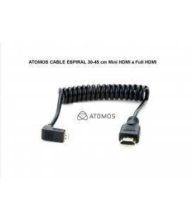 ATOMOS CABLE ESPIRAL 30-45 cm Mini HDMI a Full HDMI