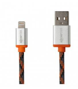 BOOMPODS CABLE RETRO LIGHTNING APPLE-NARANJA