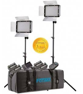 FOTIMA KIT DE ESTUDIO FTL-680 EQUIPO CON PANEL LED Y BATERIAS