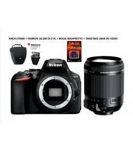 NIKON D5600 +  TAMRON 18-200 DI II VC + BOLSA MANFROTTO ESSENTIAL HOLSTER S + SD 16GB HD VIDEO