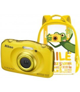 NIKON COOLPIX W100 YELLOW KIT + BACKPACK