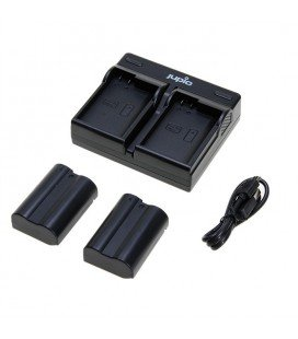 JUPIO DUALES USB-LADEGERÄT + 2 BATTERIEN EN-EL15 (CNI1004)