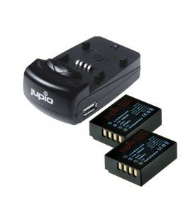 JUPIO KIT CHARGEUR USB DOUBLE + 2 PILES NP-W126
