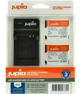 JUPIO KIT CARGADOR USB + 2 BATERIAS DMW-BCM13E 1150MAH (CPA1000)