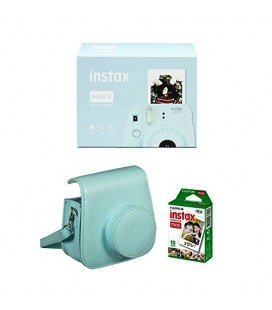 FUJIFILM INSTAX MINI 9 + 10 FOTOS + FUNDA ORIGINAL -ICE BLUE