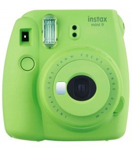 FUJIFILM  INSTAX MINI 9 + 10 PHOTOS + ORIGINAL COVER -LIMA GREEN