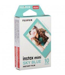 FUJIFILM INSTAX MINI FILM ISTANTANEO -10 FOTO CORNICE BLU