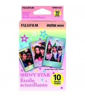 FUJIFILM INSTAX MINI SHINY STAR(BRILLO ESTRELLA)- 10 TIRAS