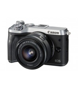 CANON EOS M6 KIT + EF-M 15-45mm F3.5-6.3 IS STM - ARGENT  + GRATUIT 1 AN VIP MAINTENANCE SERPLUS CANON