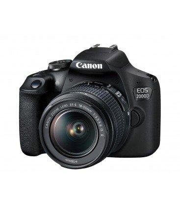 CANON EOS 2000D + 18-55MM F3.5-5.6 IS II KIT + GRATIS CURSO +1 AÑO MANTENIMIENTO VIP SERPLUS CANON