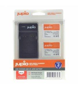 JUPIO 2 BATTERIEN NB-6LH CANON + USB-LADEGERÄT (CA1006)