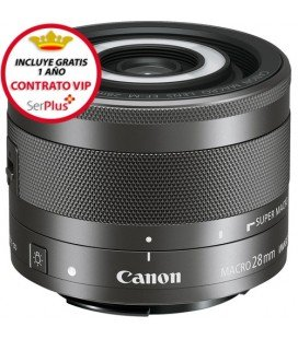 CANON EF-M 28 MM F / 3.5 Macro IS STM + GRATIS 1 AÑO MANTENIMIENTO VIP SERPLUS CANON