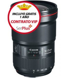 CANON EF 16-35mm f/2.8L III USM + 300€ CASHBACK + GRATIS 1 AÑO MANTENIMIENTO VIP SERPLUS CANON