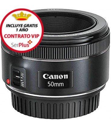 CANON EF 50MM F/1.8 STM + GRATIS 1 AÑO MANTENIMIENTO VIP SERPLUS CANON