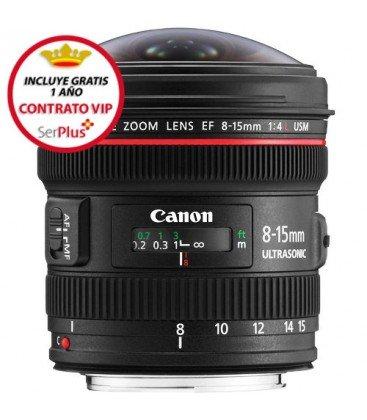 CANON EF 8-15mm f/4L FISHEYE USM + GRATIS 1 AÑO MANTENIMIENTO VIP SERPLUS CANON