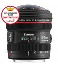 CANON EF 8-15mm f/4L FISHEYE USM + 1 ANNO GRATUITO SERPLUS CANON VIP MAINTENANCE SERPLUS CANON