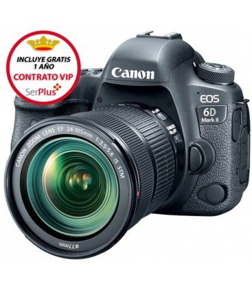 CANON EOS 6D MARK II + 24-105/3.5-5.6 IS STM + GRATIS 1 AÑO MANTENIMIENTO VIP SERPLUS CANON