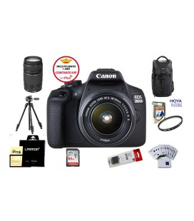 CANON EOS 2000D + 18-55 IS II PACK AVANZADO + REGALO KIT V-BLOGGING