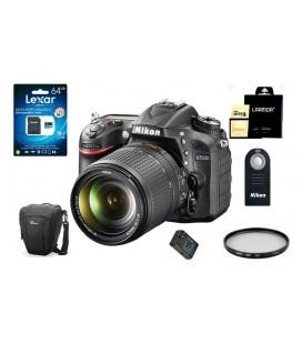 NIKON D7200 CUERPO + 18-140MM VR + TARJETA SD 16GB VIDEO