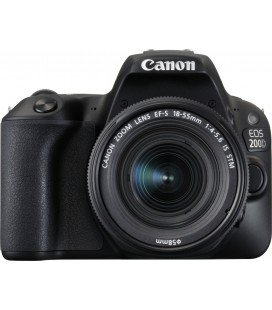 CANON EOS 200D NEGRO + 18-55 IS STM PACK BASICO + 1 AÑO MANTENIMIENTO VIP SERPLUS CANON