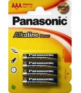PANASONIC LR6 AA PACK 4 PILAS ALKALINAS