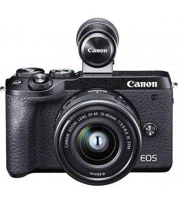 CANON EOS M6 MKII +EF-M 15-45 mm f/3,5-6,3 IS STM+VISOR ELECTRONICO EVF-DC2