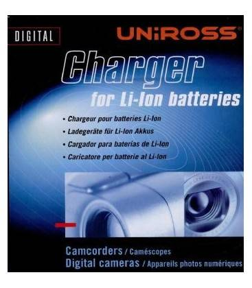 UNIROSS CARGADOR BATERIA FOTO-VIDEO UNIVERSAL