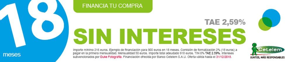 FINANCIACION 18 MESES SIN INTERESES